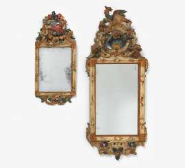 Pair of small mirror frames style baroque