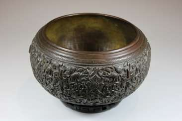 Large Bronze Dish, South-East Asia 19. Century