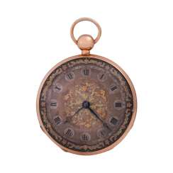 Pocket watch with chime, approx. the beginning of the 19th. Century., to dial Breguet signed
