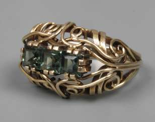 Ladies ring with tourmaline