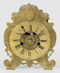 Baroque table clock by Johann Georg Metzner