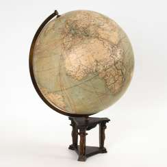 Large globe with Bronze frame.