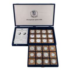 Olympic games - Box of 24 coins,
