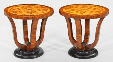 Pair of side tables in Art Deco style
