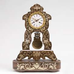 Napoleon III pendulum clock: with floral marquetry