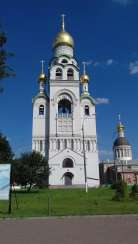 The bell tower in the temple complex of St. Nicholas the Wonderworker, Moscow
