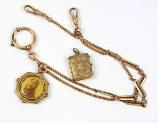 Watch-chain, with a pendant around 1920
