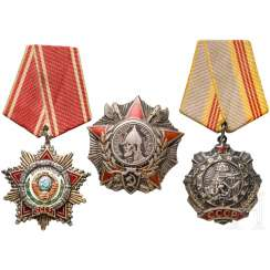 Three awards, from 1943