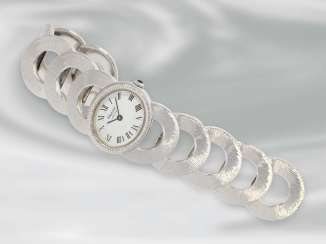 Watch: luxurious, very decorative rare vintage ladies watch by Chopard, 18K white gold