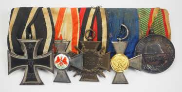 Prussia: Order buckle of a Landwehr officer with 5 awards.