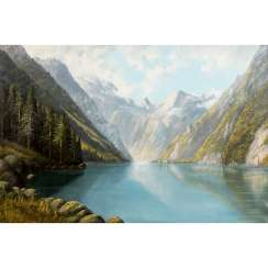 "WIEDUWILT, FO (also OF; painter 19th / 20th century), ""Königssee with a view of St. Bartholomä"","