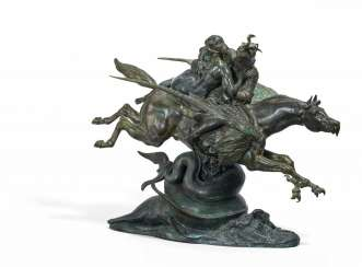 Angelica and Roger, mounted on a hippogriffe, second version - Angelica und Ruggiero auf dem Hippogryph, zweite Version