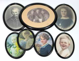 7 oval frame around 1890/1900