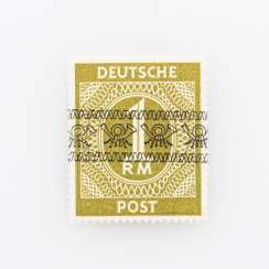 Germany after 1945 - allied occupation 1948, free brand 1 (D) Mark,
