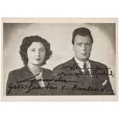 Vladimir Grand Prince of Russia, with his wife - photo print with autographs