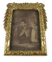 Decorative FRAME, CARVED&. GOLDET, GALANTE SCENE