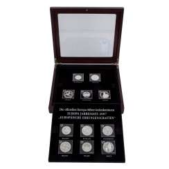 Europe Silver Commemorative Coins Annual Set 2007,