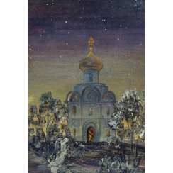 "ARTIST 20th Century, ""Russian Orthodox Church in the Evening Light"","