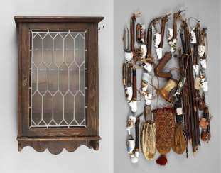 Collection of pipes in a showcase