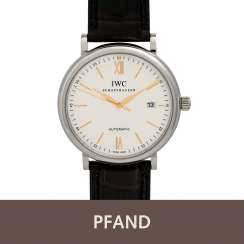 PLAFF AUCTION - IWC Portofino men's watch, steel, automatic, leather ba