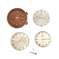 Vintage men's watch works, 4 PCs, various brands,