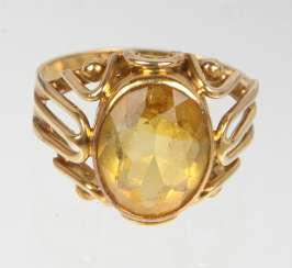 Citrin Ring - Gelbgold 585