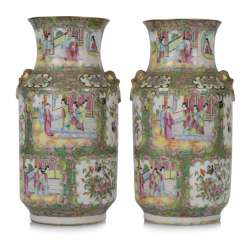 Pair Of Vases With Figure Decoration,