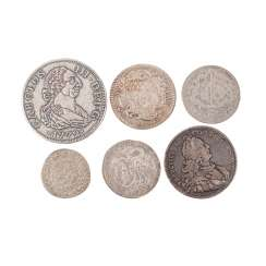 6-piece historical coin and coin collection 16. Century. and 18. Century. - among other things