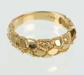 Gold Nugget Ring - Gelbgold 585