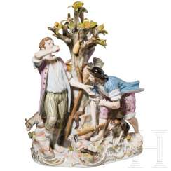 Large group of gardeners in the Rococo style, Meissen, 19th century