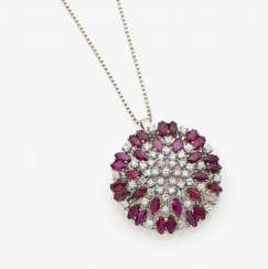 Pendant with diamonds and rubies Germany