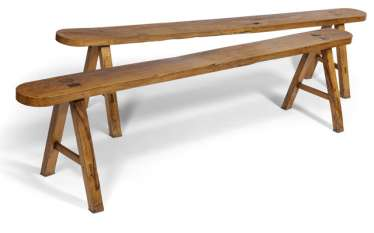 Couple Of Benches. 19. Century