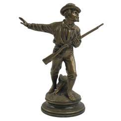 "Bronze figurine ""Shooter"" E.Guillemin. France, 19th century"