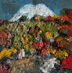 """Autumn against the background of Elbrus"""