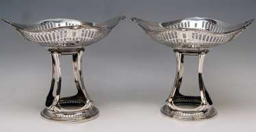 Silver Art Nouveau Pair of Centrepieces Holders Bruckmann and Sons, Germany 1900