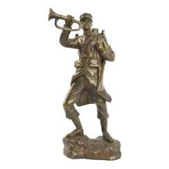 "bronze ""Military trumpeter"". France, early 20th century"
