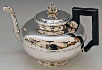 Silver Austria Vienna Tea Pot Biedermeier Period by Christian Sander Made 1829