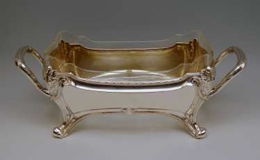 Centrepiece Silver 800 Fruit Bowl Art Nouveau Otto Wolter Germany made 1900