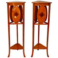 Pair of Thonet Art Nouveau Flower Columns by Marcel Kammerer, Vienna, circa 1910