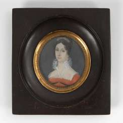 Miniature around 1800: portrait of a lady