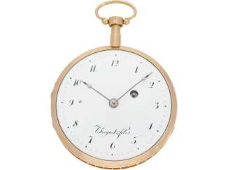 Pocket watch: early and high fine Spindeluhr with minute repeater signed Breguet et Fils, No. 3688, Paris, CA. 1820