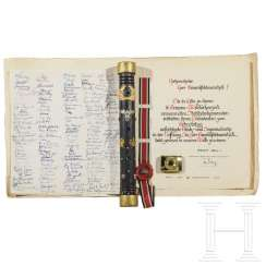"""Marshal's baton"" and documents from his time as federal leader of the Stahlhelmbund"
