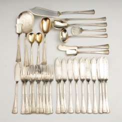 Silver rest of the Cutlery, with the monogram