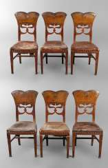 Six Chairs In The Art Nouveau Style