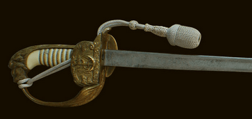 The marine officer's sword and scabbard.