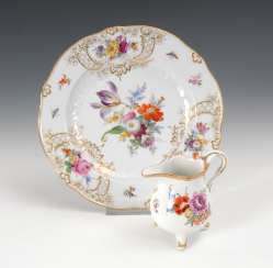 Plate and jug, Meissen.