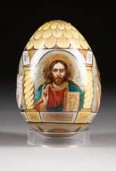 EASTER EGG WITH GOD FATHER AND DEESIS Russia