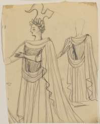 Two studies for stage costumes for the opera