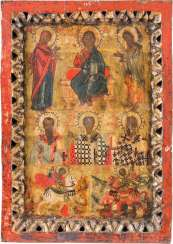 LARGE MORE FIELDS ICON WITH DEESIS AND SELECTED SAINTS