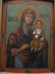 The icon of the virgin of the 17th century